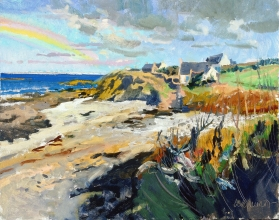 <h5>Coast at Penhors </h5><p>O:L 21 x 25 2000																																																																																																																																																																																																																																																																																																																																																																																																																																																																																																																														</p>
