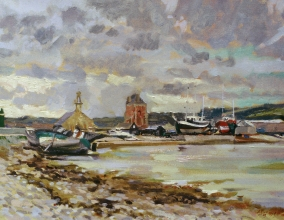 <h5>Harbor at Camaret</h5><p>O:L 13 x 21 1989																																																																																																																																																																																																																																																																																																																																			</p>