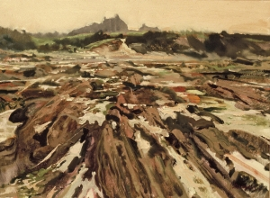 <h5>Low Tide at Penhors</h5><p>O:L 21 x 25 1971																																																																																																																																																																																																																																																																																																																																			</p>
