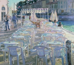 <h5>Breakfast at île de Ré</h5><p>O:L 50 x 50 1987																																																																																																																																																																																																																																																																																																																																			</p>