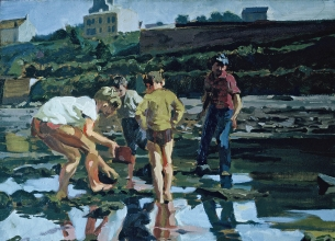 <h5>Low Tide at Le Conquet</h5><p>O:L 21 x 31 1962																																																																																																																																																																																																																																																																																																																																			</p>