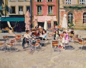 <h5>Square in Quimper</h5><p>O:L 21 x 32 2000																																																																																																																																																																																																																																																																																																																																			</p>
