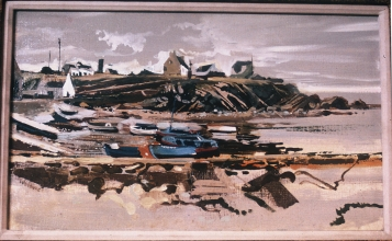 <h5>Harbor at Pors Poullan</h5><p>O:L 10 x 14 1971																																																																																																																																																																																																																																																																																																																																			</p>