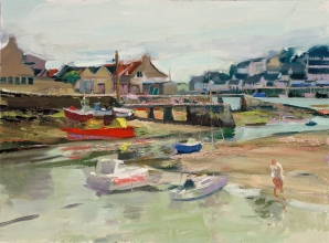 <h5>Audierne Low Tide</h5><p>O:L 18 x 21 1991																																																																																																																																																																																																																																																																																																																																			</p>