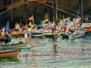 <h5>Before the Regatta</h5><p>O:L 12 x 14 1995																																																																																																																																																																																																																																																																																																																																			</p>