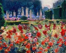 <h5>Dahlias at Le Guilguiffin</h5><p>O:L 21 x 25 2000																																																																																																																																																																																																																																																																																																																																			</p>
