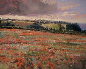 <h5>Poppies on the Coast</h5><p>O:L 21 x 26 1974																																																																																																																																																																																																																																																																																																																																			</p>