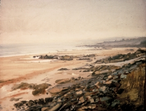 <h5>Beach at Penhors</h5><p>O:L 21 x 26 1972																																																																																																																																																																																																																																																																																																																																			</p>