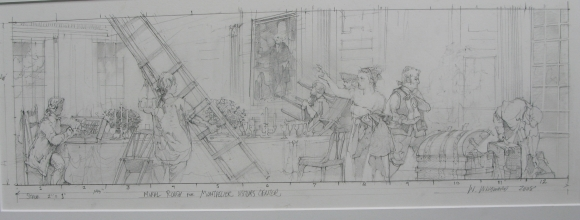 <h5>Dolley Madison Mural</h5><p>Conceptual Sketch</p>