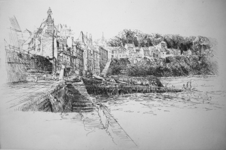 <h5>Douarnenez </h5><p>$1300 Etching on archival paper (Ed. of 50) Signed, framed, and matted  14 x 21</p>