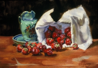 <h5>Brittany Still LIfe with Strawberries</h5><p>O:L 11 x 14 1972																	</p>