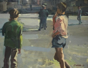 <h5>Spectators</h5><p>O:L 20 x 26 1965 Private Collection 																																																																																																						</p>