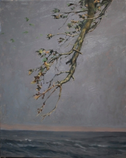"""<h5>Winter and Sea </h5><p>Price upon request  Oil on Linen 38"""" x 28"""" </p>"""