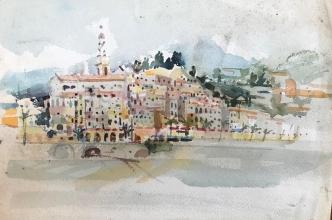 <h5>Menton</h5><p>Price upon request Watercolor  8 x 12  1978</p>