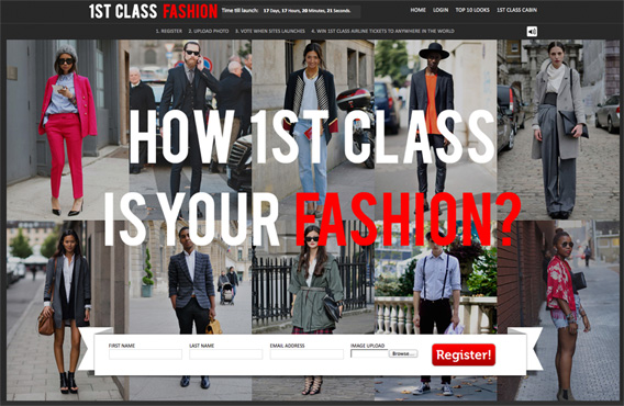 1st Class Fashion social community that rewards its most fashion savvy men and women
