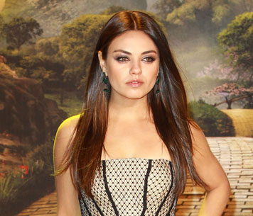 Mila Kunis' beautiful hair looks at the London premiere of Oz the Great