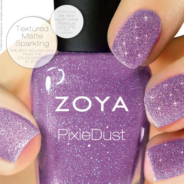 Nail News: Zoya's Pixie Dust Nail Polish, The Ultra, Long-wearing matte nail color!
