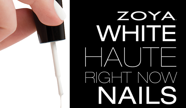 Art of Beauty News: Zoya White Haute Nails, the New It Factor