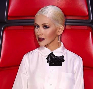 Christina Aguilera sported her most sophisticated outfit to date on The Voice