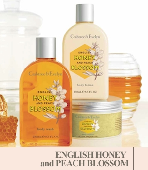 Valentines Day with Crabtree & Evelyn's English Honey Bee & Peach Blossom