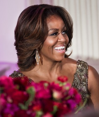 First Lady Michelle Obama wearing Doves by Doron Paloma