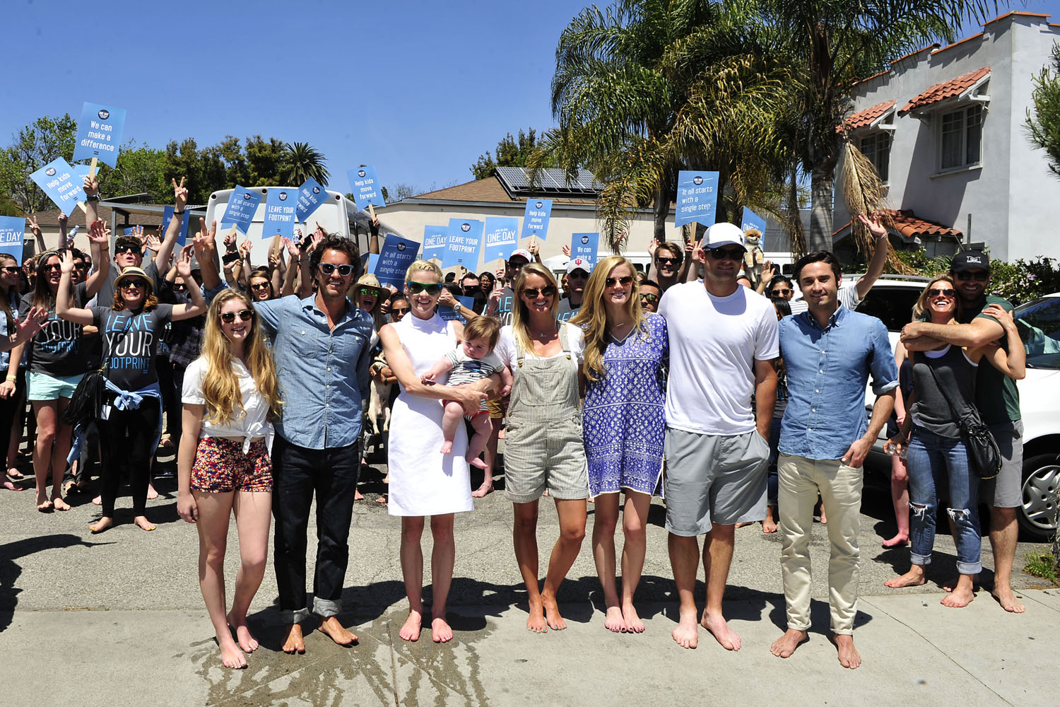 "Celebrities go barefoot in support of TOMS ""One Day Without Shoes"""