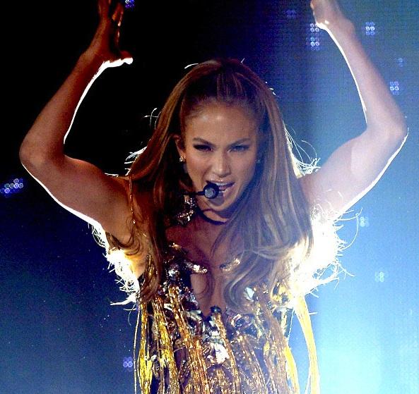 Jennifer Lopez, Billboard Music Awards Fab Five bodysuit by Falguni & Shane Peacock