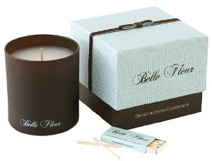 Candles, Celebrities, Belle Fleur Orange Blossom Pomegranate Candle Therapy