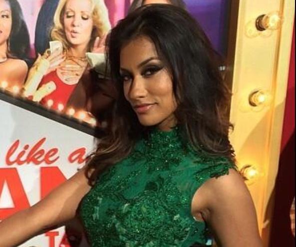 Hollywood Celebrities, Think Like A Man Too:  Janina Gavankar Wears Designer Mac Duggal's