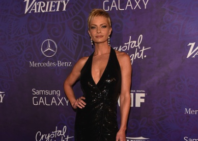 Celebrity Style Spotlight on Jamie Pressly wearing Lauren Harper diamond drop earrings