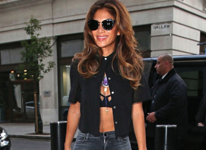 Star Style Jewel News with NICOLE SCHERZINGER wearing $37,700 MISAHARA NECKLACE IN LONDON