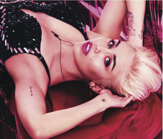 Miley Cyrus as the next VIVA GLAM spokesperson