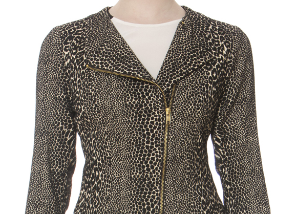 Donna Degnan's Animal Jacquard Moto Jacket Is Fabulous