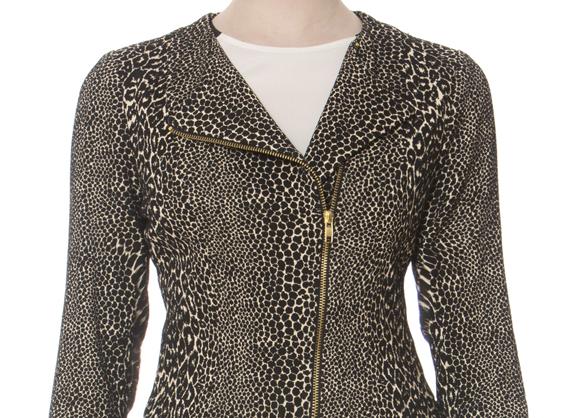Donna Degnan's Animal Jacquard Moto Jacket Is Fabulous