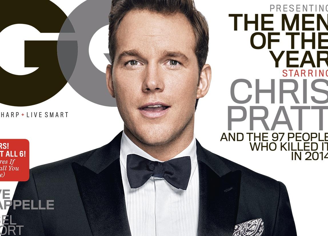 CHRIS PRATT COVERS GQ's MEN OF THE YEAR ISSUE