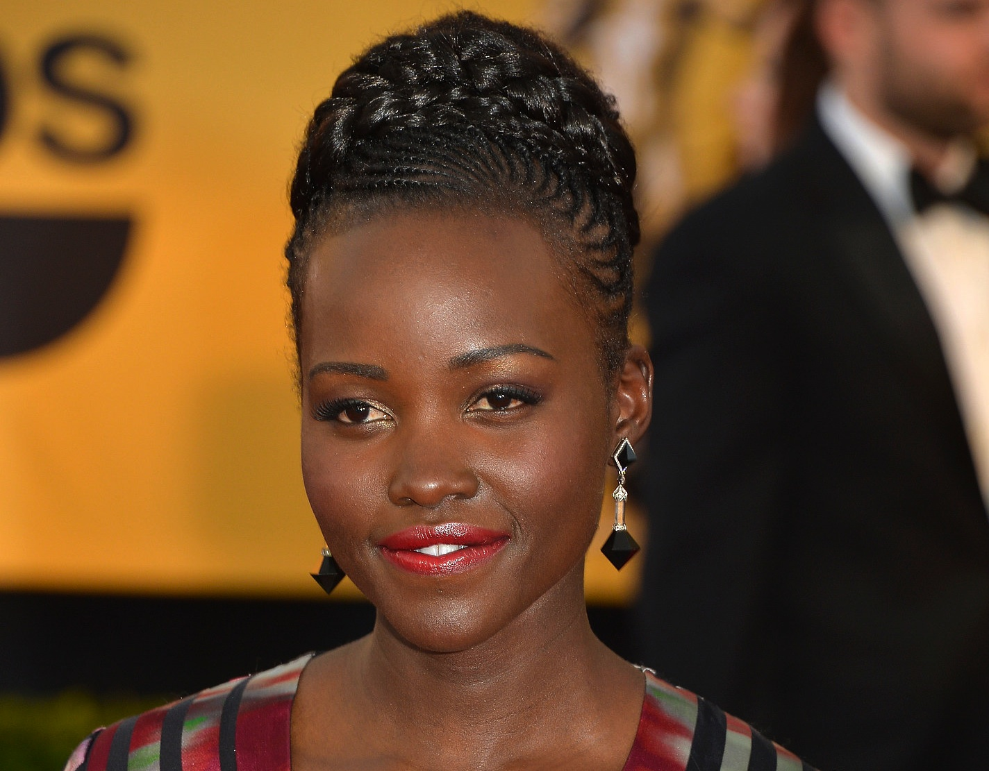 Lupita Nyong'o, Hair Glam Moment At The SAG Awards