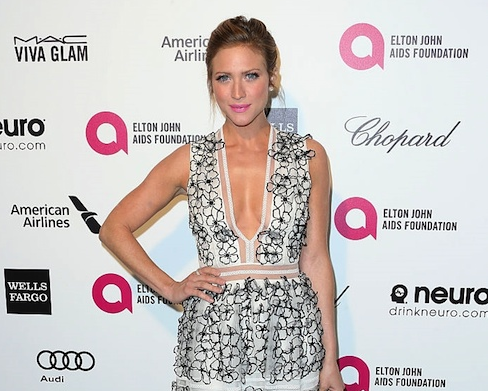 Brittany Snow, Her Fab Diamond Ring Style At Elton John Oscar Viewing Party