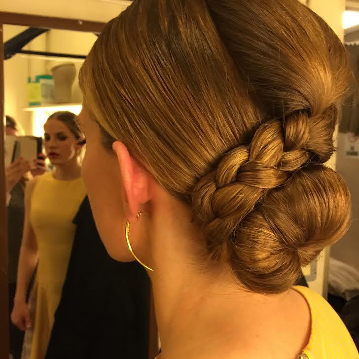 Hair Style Spotlight On Anna Chlumsky's Wrap-Up Braided Bun
