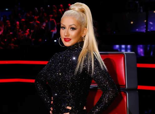 Christina Aguilera's Glamorous & Sleek High Crown Pony Glam!