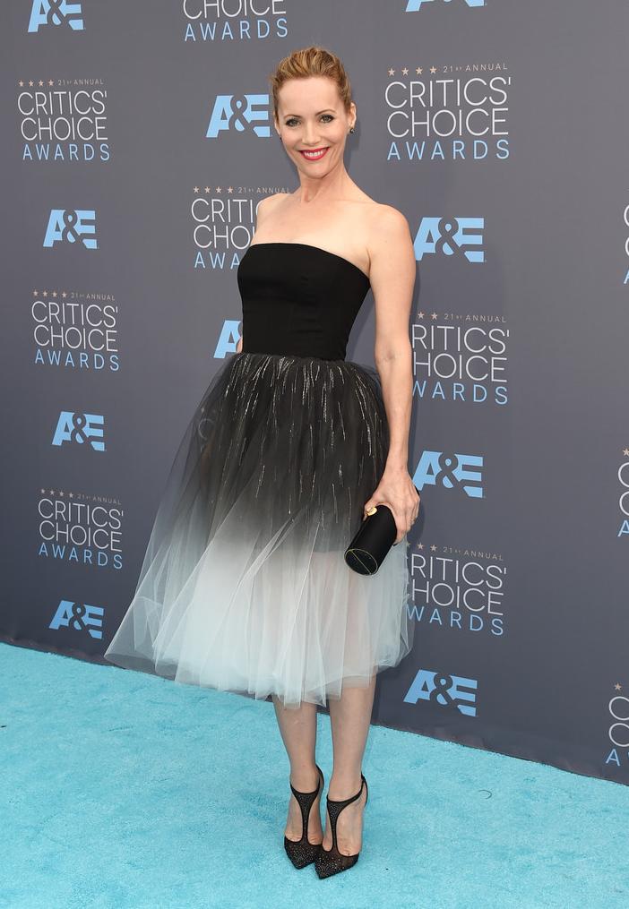 Leslie Mann, Black Diamond Glam At The Critics' Choice Awards