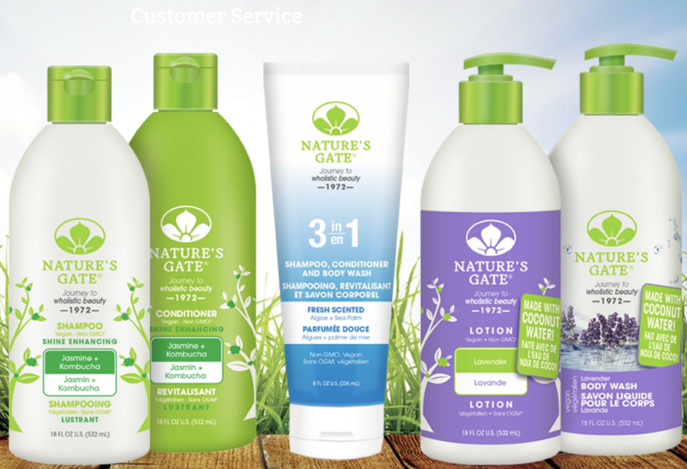 Nature's Gate Fab Natural Vegan Hair & Skincare Products