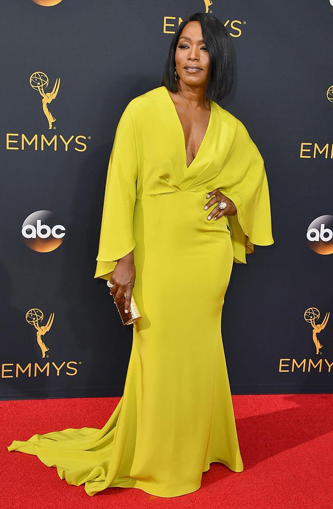 Angela Bassett Fab Style In Yellow