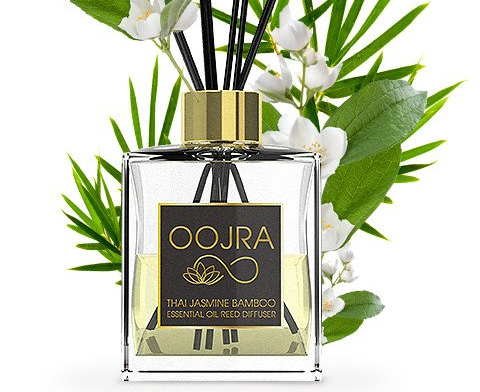 Oojra Thai Jasmine Bamboo Essential Oil Reed Diffuser Gift