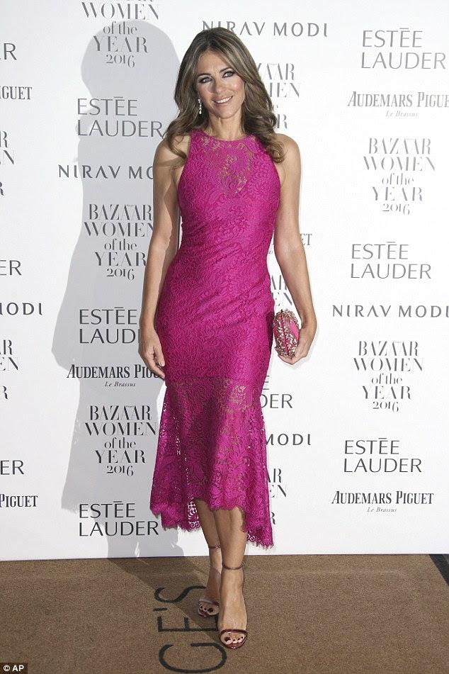 Elizabeth Hurley Style At Harper's Bazaar Women of The Year Award Event