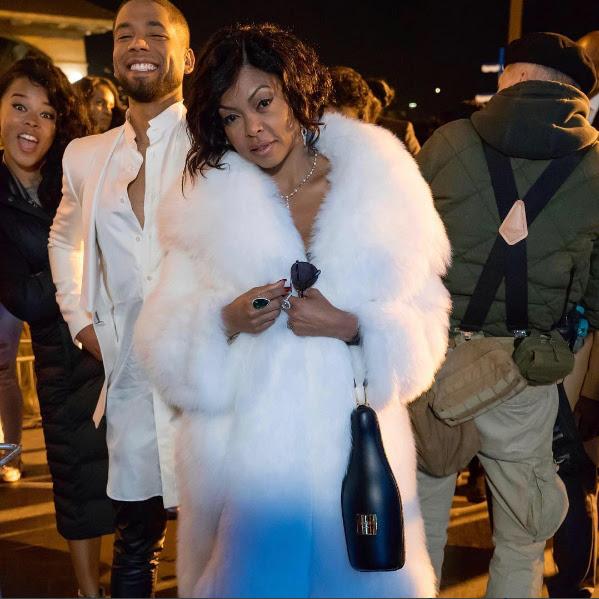EMPIRE, Taraji P. Henson Star Style Coat Moment