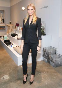 Gwyneth Paltrow, wearing La Perla