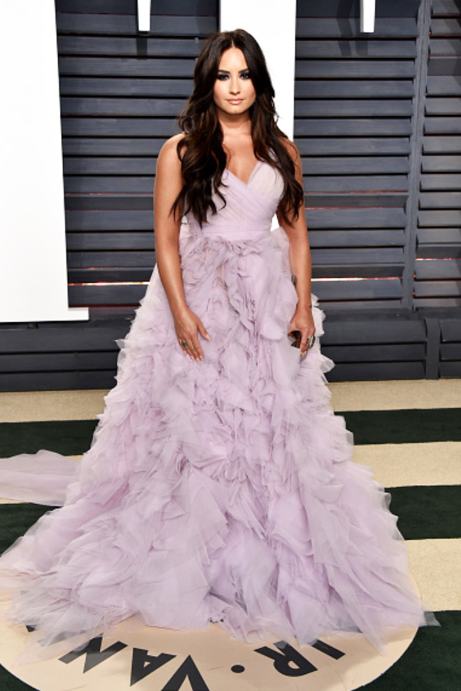 Demi Lovato, Vanity Fair Oscar Party Red Carpet Style