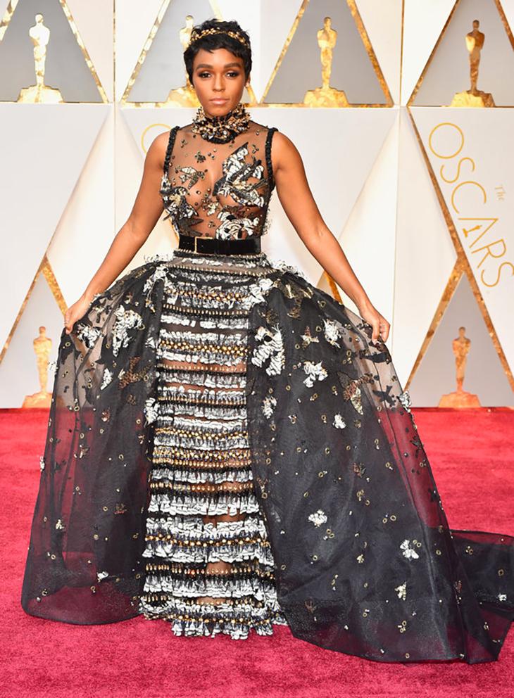 Janelle Monae, Oscar Red Carpet Fab Dress Design By ELIE SAAB