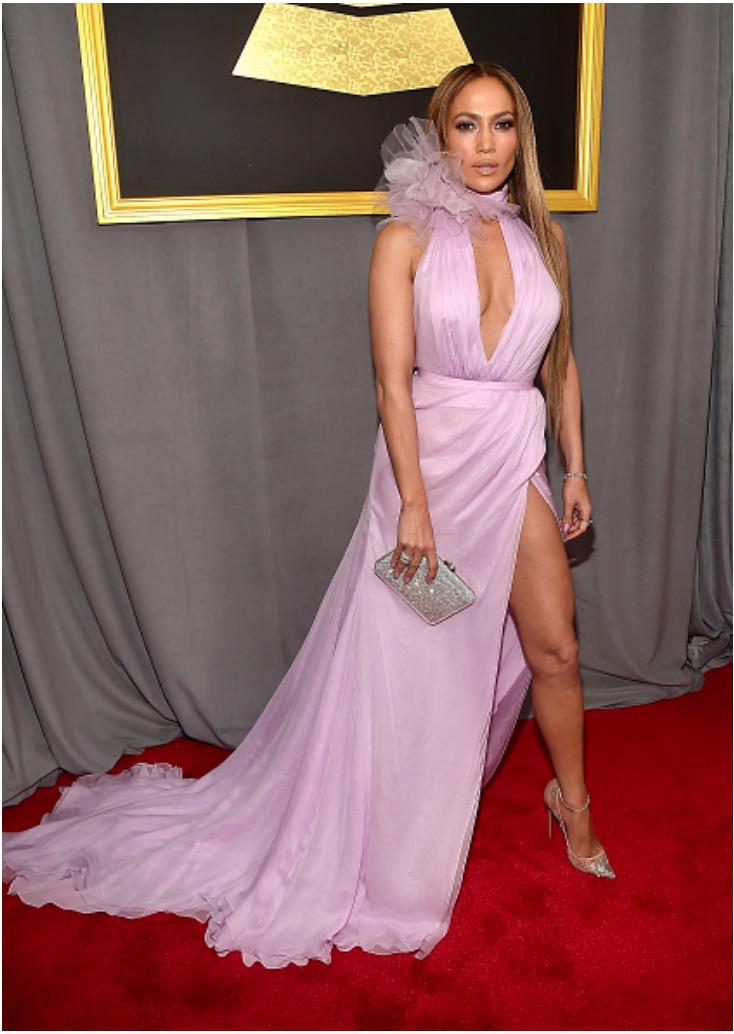Jennifer Lopez, The 59th GRAMMY Awards Red Carpet Style