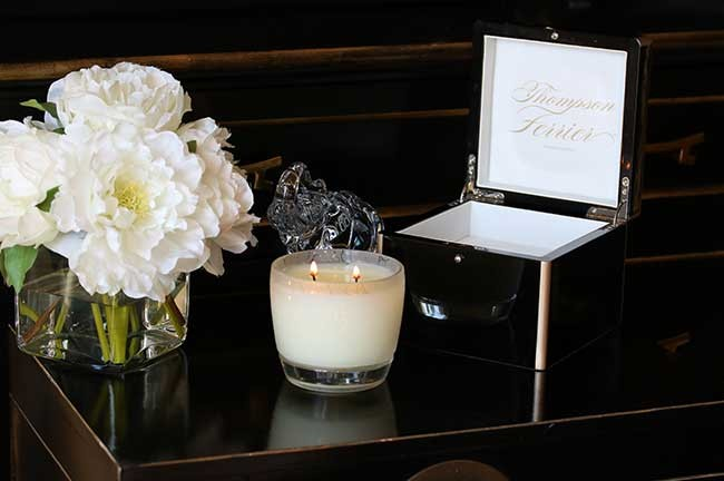 Valentine's Day Candle Must Have From Thompson Ferrier, Golden Amber Lacquer Box